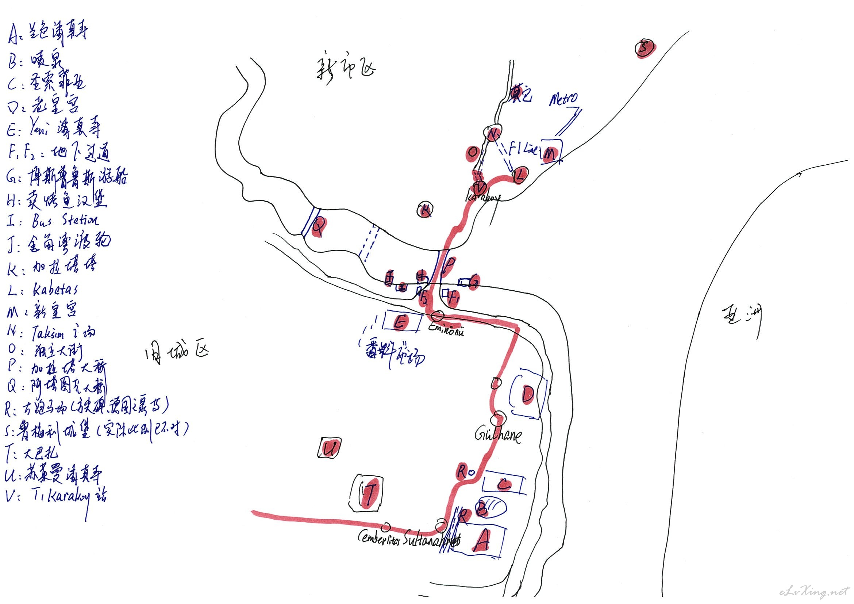 [欧洲] 土耳其--istanbul,旅游景点手绘地图 步行距离 亲身推荐