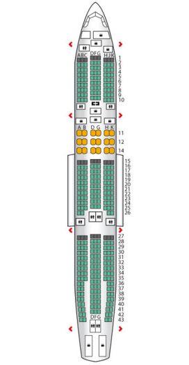 普及下亚航空客各机型座位图,分配规律,不想吃鸡翅膀