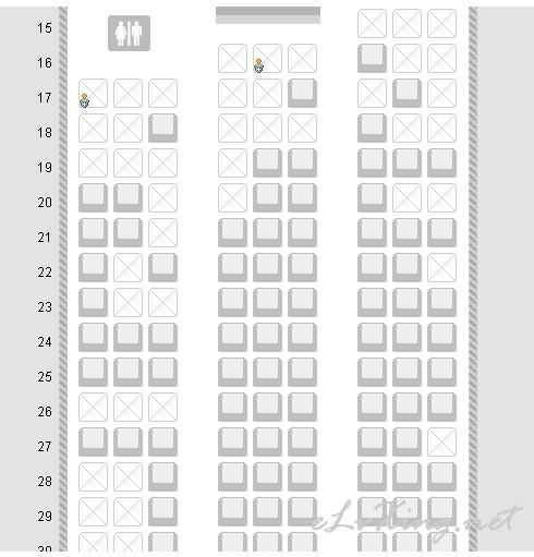 飞机网上选座位_飞机座位分布图